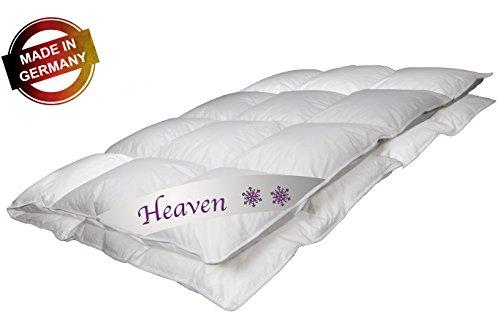 Luxus Daunendecke Heaven Made in Germany 135x200 cm mit 100% weißen Gänsendaunen Klasse 1 Ganzjahresdecke 720 g Bettdecke von Betten Jumbo