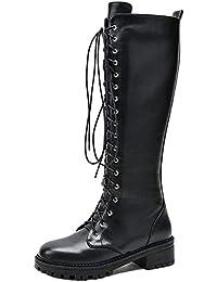 Amazon.es: Piel Botas Zapatos para mujer: Zapatos y