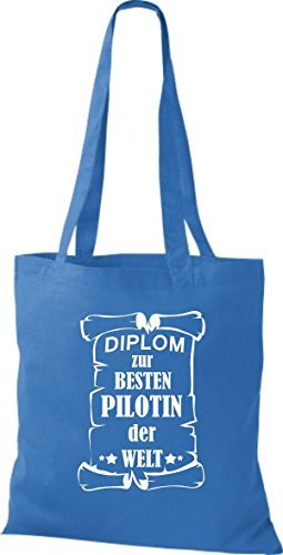 shirtstown STOFFA DIPLOM A besten PILOTA DI MONDO Blu reale