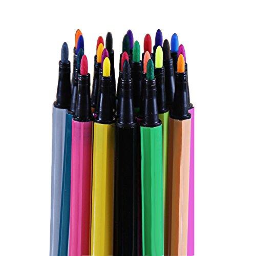 Ciaoed Set 24 Stück Verschiedenen Farben Aquarell Stift Gelstifte Pastellfarben Basteln Schreiben...