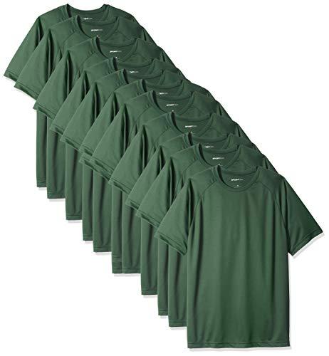 Sport-tek Herren Raglan (Logotastic Rmk Sport-Tek Dry Zone Raglan-T-Shirt, langärmelig, Schwarz, 36 Stück, Unisex-Erwachsene Herren, waldgrün, Medium)