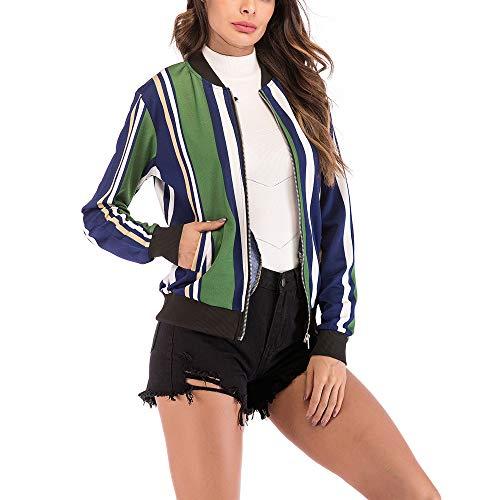 Bata de béisbol para Mujer con Estampado de Aves, Blusa Corta con Estampado de Aves Blusa Corta con Cremallera de la Moda Absolute