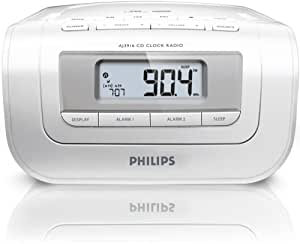 Philips AJ3916/12 Radio-réveil Double alarme CD Tuner analogique Entrée ligne Blanc
