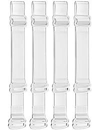 SUREMATE Invisible Sujetador claro Correa antideslizante Sujetador ajustable Correa Suave 2 pares transparente correa para el hombro