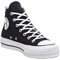 Converse CTAS Lift Hi Black White, Zapatillas Altas Unisex Adulto
