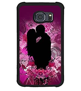 Fuson Premium My Valentine Metal Printed with Hard Plastic Back Case Cover for Samsung Galaxy S6 Edge