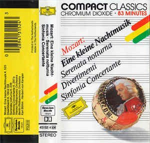 DCC Cassette Tape - Mozart Piano Concertos No. 20 & 21 - Uchida English Chamber Orchestra (Philips Cassette Tape)