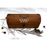 Scatola da vino per matrimoni, regali per gli amanti del vino, regali di nozze per vino, scatola per cerimonie per il vino, scatola per il vino dell'anniversario, scatola per il vino in legno