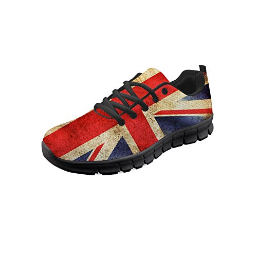 Nopersonality Mens Running Shoes Vintage The Union Jack Flag Breathable Lightweight Sneakers for Tennis Gym Sports Trainers 44