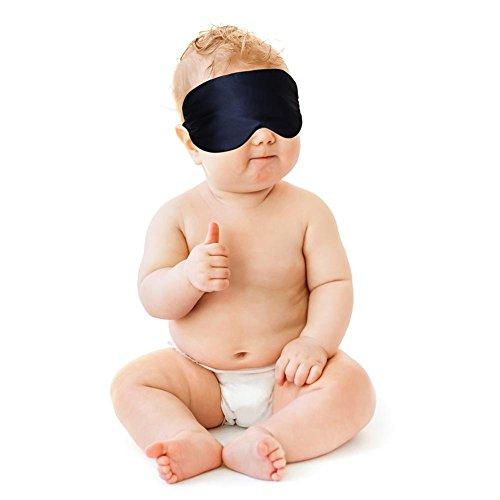 Schlafmaske Super weiche Naturseide Augenmaske Beste Schlafaugenmaske Augenbinde für Baby