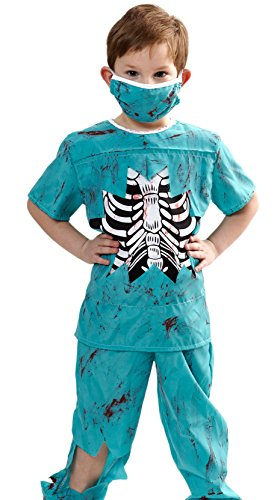 Heitmann Deco 7317 - Kinderkostüm Zombie-Doktor, (Kinder Kostüm Doktor Zombie)