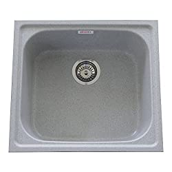 ZINZER Granite Kitchen Sink : Single Bowl - Grey color