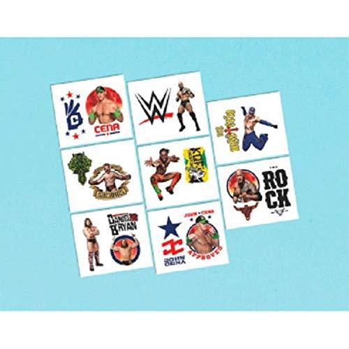 WWE Wrestling 16 Stk Tattoos - Abziehtattoos - Hauttattoos für Kinder