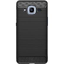 ZAPCASE Samsung Galaxy J2 Pro Back Cover Case, Heavy Duty Shock Proof TPU Case, Premium Protection, Metallic Black