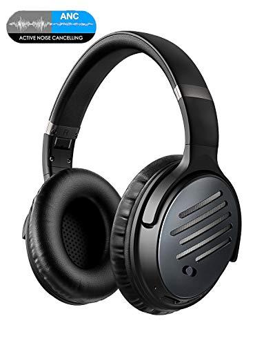 Mpow H16 Cuffie Bluetooth, Cuffie Cancellazione Attiva del Rumore, Autonomia 30 Ore, Suono Stereo Hi-Fi, Ricarica Rapida e Microfono Incorporato...