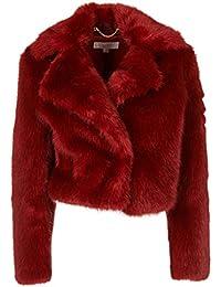 Michael By Michael Kors Giacca Outerwear Donna MF82HSA51U937 Acrilico Rosso 05ba3f3e3e1