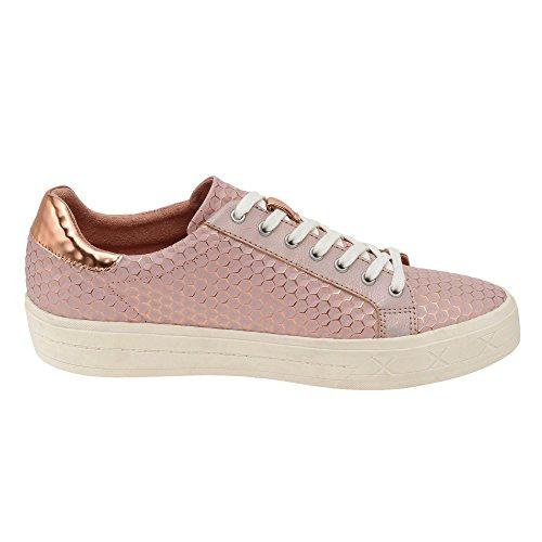 Tamaris Damen 23604 Sneakers, Gold (Copper Struct. 902) Pink (ROSE STRUCT. # 972)