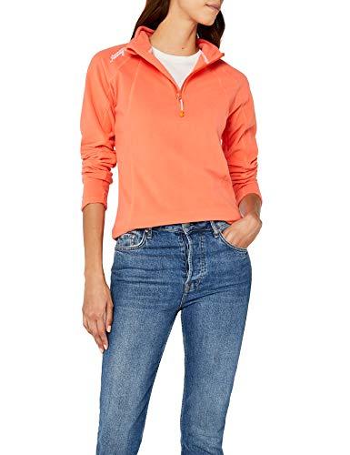 Geographical Norway Damen Sweatshirt Talmud Lady Half Zip, Orange (CORAL), Gr. X-Large (Herstellergröße: 4) Micropolar-fleece