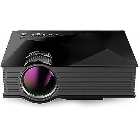 WOHOO UC46 Mini Proiettore Video 1200 Lumen Di Colore Completo 130