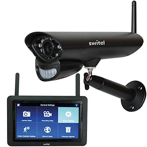 Switel HSIP5700, HD-Funk-Videoüberwachungs-System, wetterfest, Nachtsichtfunktion, Gegensprechfunktion mit 7