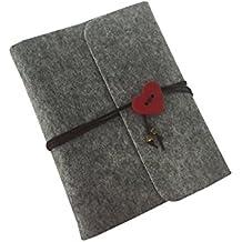 wanruisi Vintage a mano in feltro autoadesivo diy Gazzetta anniversario di matrimonio foto album scrapbook, 30fogli/60pagine di carta nera, 23x 17cm