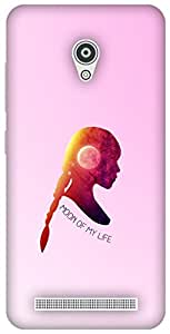 The Racoon Lean printed designer hard back mobile phone case cover for Asus Zenfone Go ZC500TG. (Moon of my)