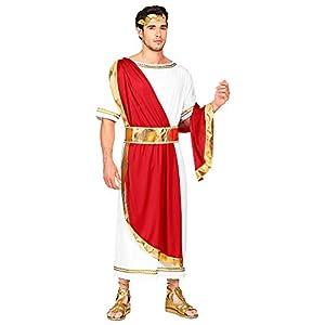 WIDMANN 09114 Disfraz de emperador romano, para hombre, rojo/blanco, XL