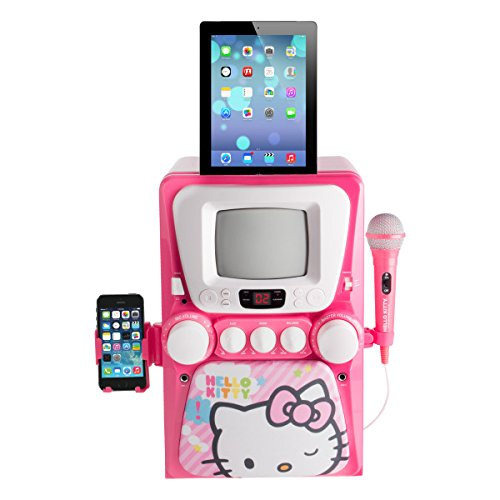 Sakar 68109-INT-UK - Hello Kitty CD+G Karaoke-Maschine mit Schirm