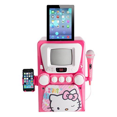 Sakar 68109-INT-UK - Hello Kitty CD+G Karaoke-Maschine mit Schirm