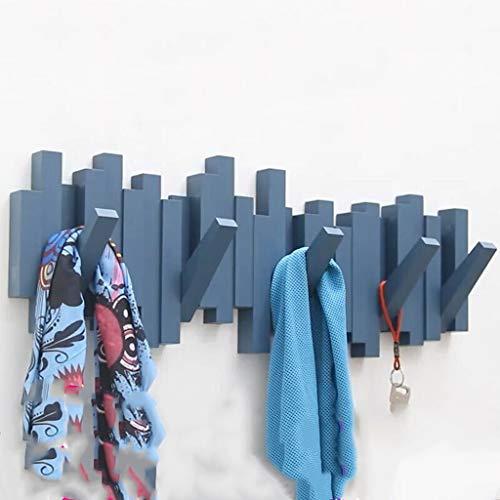 Leqi Nordic Kreative Garderobe Wandbehang Kleiderbügel Wandbehang Veranda Dekorative Kleiderhaken Kleiderständer Schlüsselhaken Schwarz (Color : White) - White Scrub-jacke