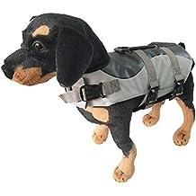 MISSMAOM Perro Mascotas Chaleco Salvavidas Preservador Adjustable Seguridad Natación para Perro Cómodo y Transpirable ...