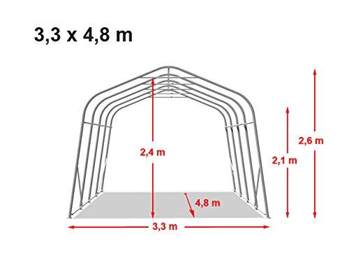 Weidezelt 3,3 x 4,8m Weideunterstand Offenstall Weidehütte Pferde - 7