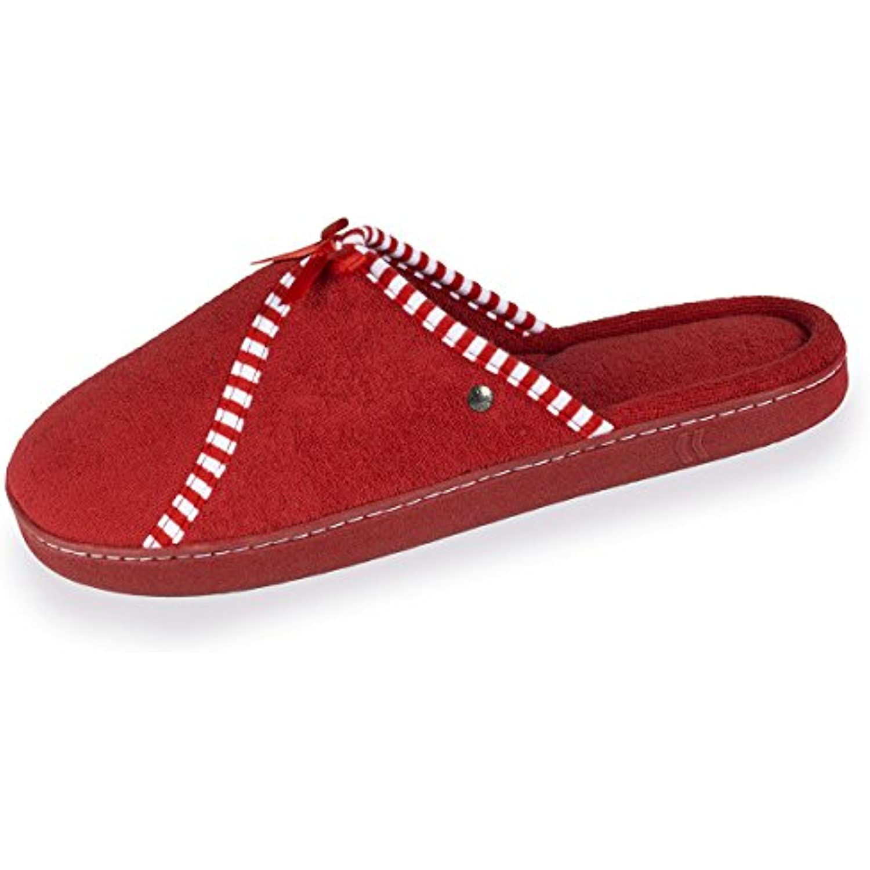 Isotoner Chaussons Mules B079YC6HH6 Femme Classiques -Rouge -41 EU - B079YC6HH6 Mules - 408a84