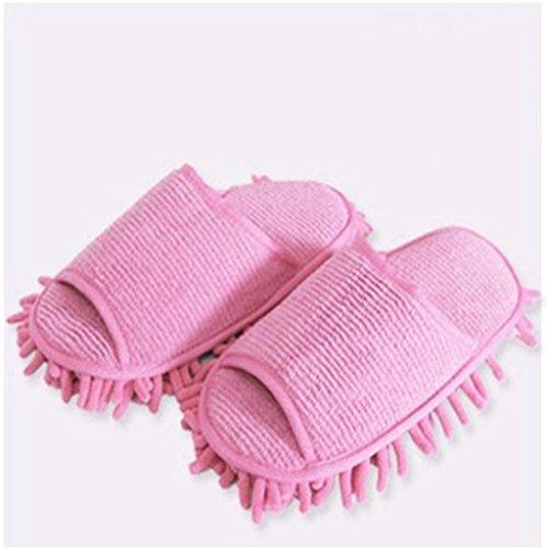 ausschuhe Mikrofaser Reinigung Mop Hausschuhe Schuhe Staub Bodenreiniger Multifunktions Bodenreinigung Schuhe Abdeckung, one size , B , 36-38 ()