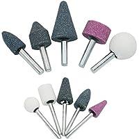 Elenxs 10pcs / Set de Ruedas de molienda cerámica de alúmina de 6 mm Cabeza de Pulido de Pulido eléctricas Accesorios Brocas de la Herramienta de Lijado