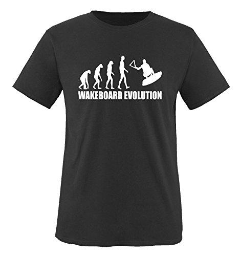 WAKEBOARD EVOLUTION - Kinder T-Shirt Schwarz/Weiss 122-128