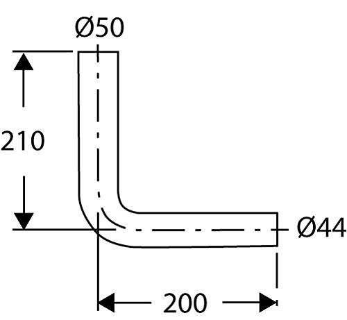 Sanitop-Wingenroth Anschlussbogen für Spülkasten | 210 x 200 mm | Kunststoff | Tiefspülkasten | WC, Toilette Beige