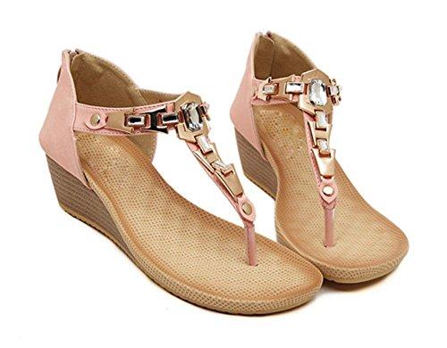 Nach dem Sommer Sandalen Diamant Hang mit zeheschuhe Paket Metallclip Pink