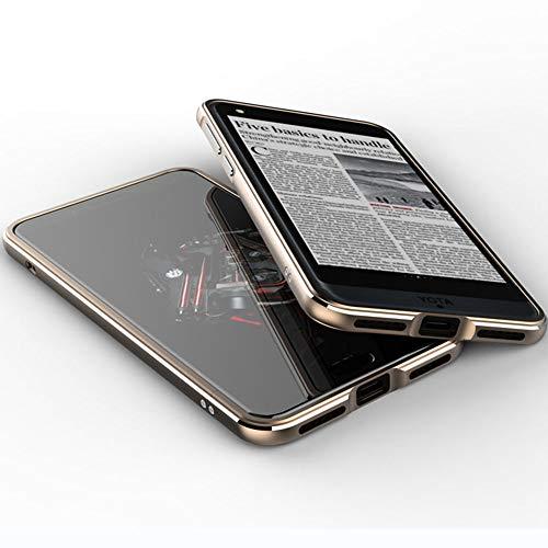 TPEKKA YotaPhone YOTA 3 Hülle, Luxus Premium Elektroplate Metall Rahmen Stoßfest Case Slim Arc Style Case Schutzhülle für YotaPhone 3