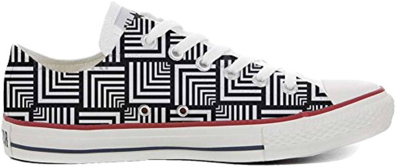 Converse All Star Personnalisé Slim Personnalisé Star et Imprimés Low Sneaker Unisex (Produit Italien Artisanal) Geometric ba6e92