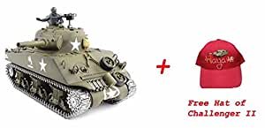 radio remote control 1/16 rc tank M4A3 Sherman tank 2.4G system --- Metal tracks + Metal Gears + Metal Sprockets --- Heng Long 2014 latest with a FREE Challenger II Hat by Big Boyz®