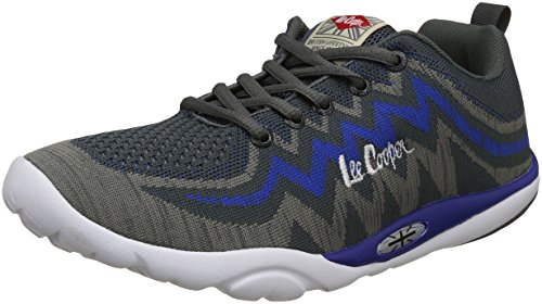 6. Lee Cooper Men's Grey-Blue Nordic Walking Shoes