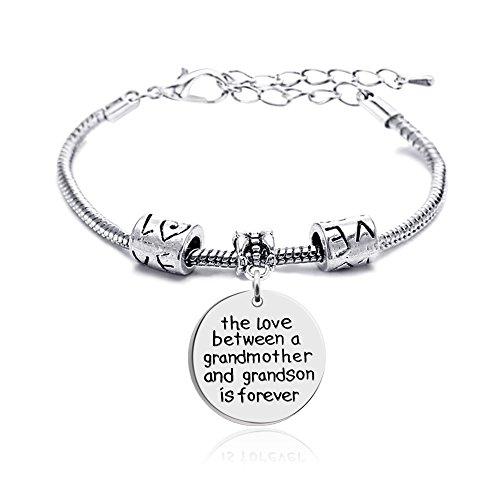 lauhonmin Familie Armband der Liebe zwischen Eine Großmutter und Enkel ist Forever Armreif stückrosa für (Zoll Für Halloween Männer)