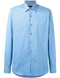 Prada Homme UCM608F62F0076 Bleu Claire Coton Chemise