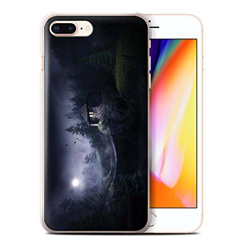 Officiel Elena Dudina Coque / Etui pour Apple iPhone 8 Plus / Océan/Epave Navire Design / Fantaisie Paysage Collection Forêt Brumeuse