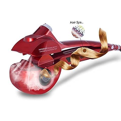 Automatische Haar-Dampf-Lockenwickler-keramische kräuselnde Eisen-Stab-Salon-Berufsauto-drehende Styling-Dampfer-Spray-Wellungs-Spirale-Werkzeugmaschine mit LED-Digital-Anzeige