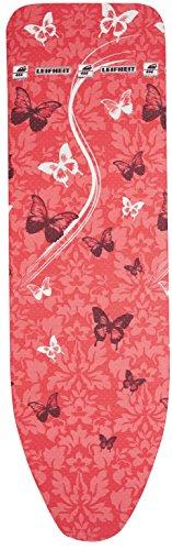 Leifheit 72260Perfects Team Air Board Express L VS Housse pour Table à Repasser, plastique, Butterflies Rouge, 130x 45x 1cm