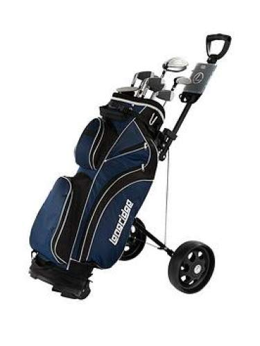 LONGRIDGE Golf Vector Herren Komplettset Golf Starter Set Bag-Clubs-Trolley-Balls, The Lot