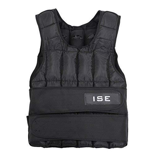 ISE Gewichtsweste Verstellbar von 5 kg 10 kg 15 kg 20 kg 25 kg 30 kg Gewicht Warnwesten für Gewicht Training Krafttraining Übung SY3002 (15)