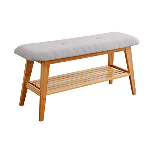 Mxd sgabello simple change shoe bench bamboo scarpiera scarpiera sgabello moderno minimalista (color : m)